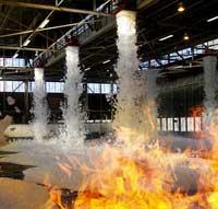 extinción de incendios con espuma