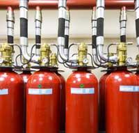 extinción de incendios con gas