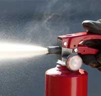 extinción de incendios con polvo seco